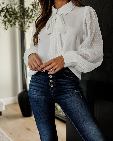 Best Of Both Worlds Statement Blouse