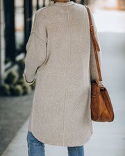 Connor Pocketed Knit Cardigan - Taupe
