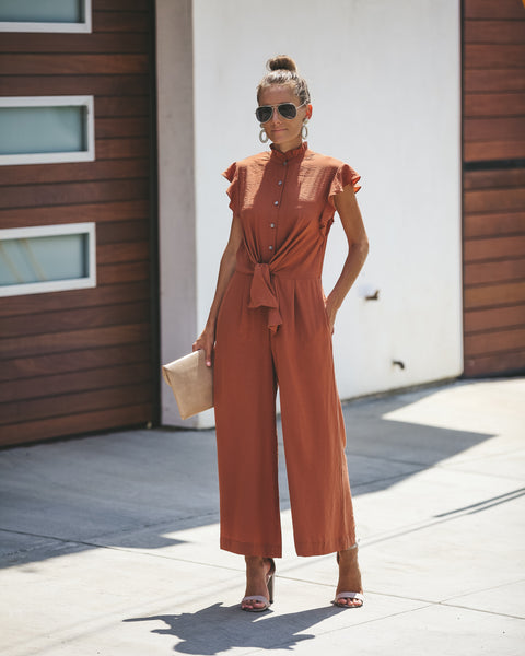 Vermont Button Down Pocketed Jumpsuit