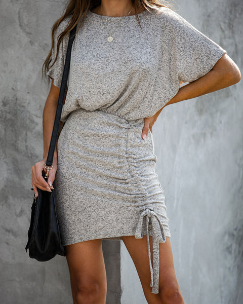 Such A Softie Ruched Knit Dress