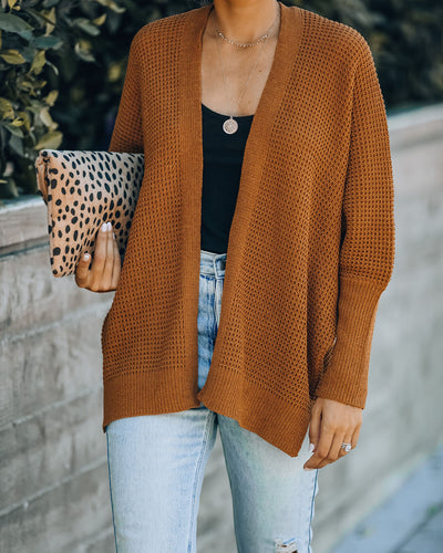 Love You, Mean It Dolman Knit Cardigan - Camel