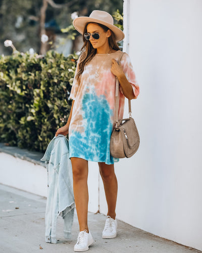Studio City Cotton Tie Dye T-Shirt Dress