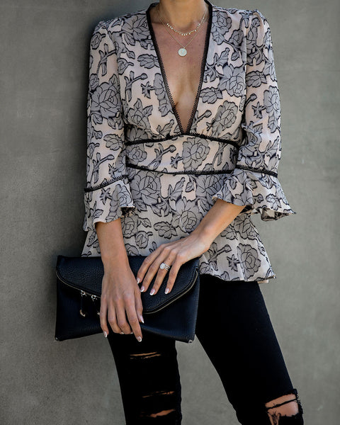 Snowdrop Floral Blouse  - FINAL SALE