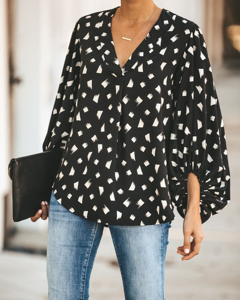 Front Runner Balloon Sleeve Blouse