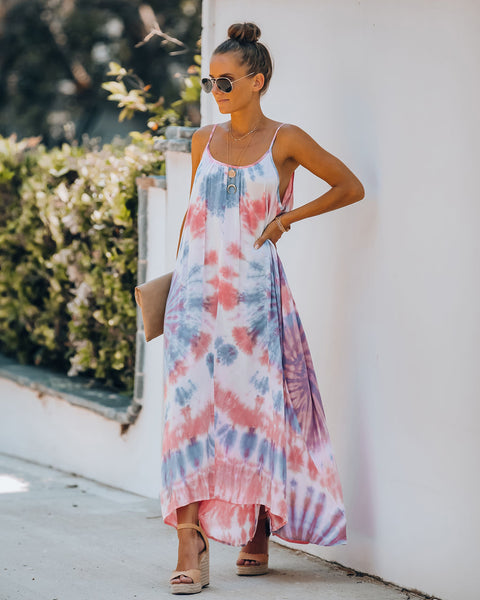 Liberty Tie Dye High Low Maxi Dress