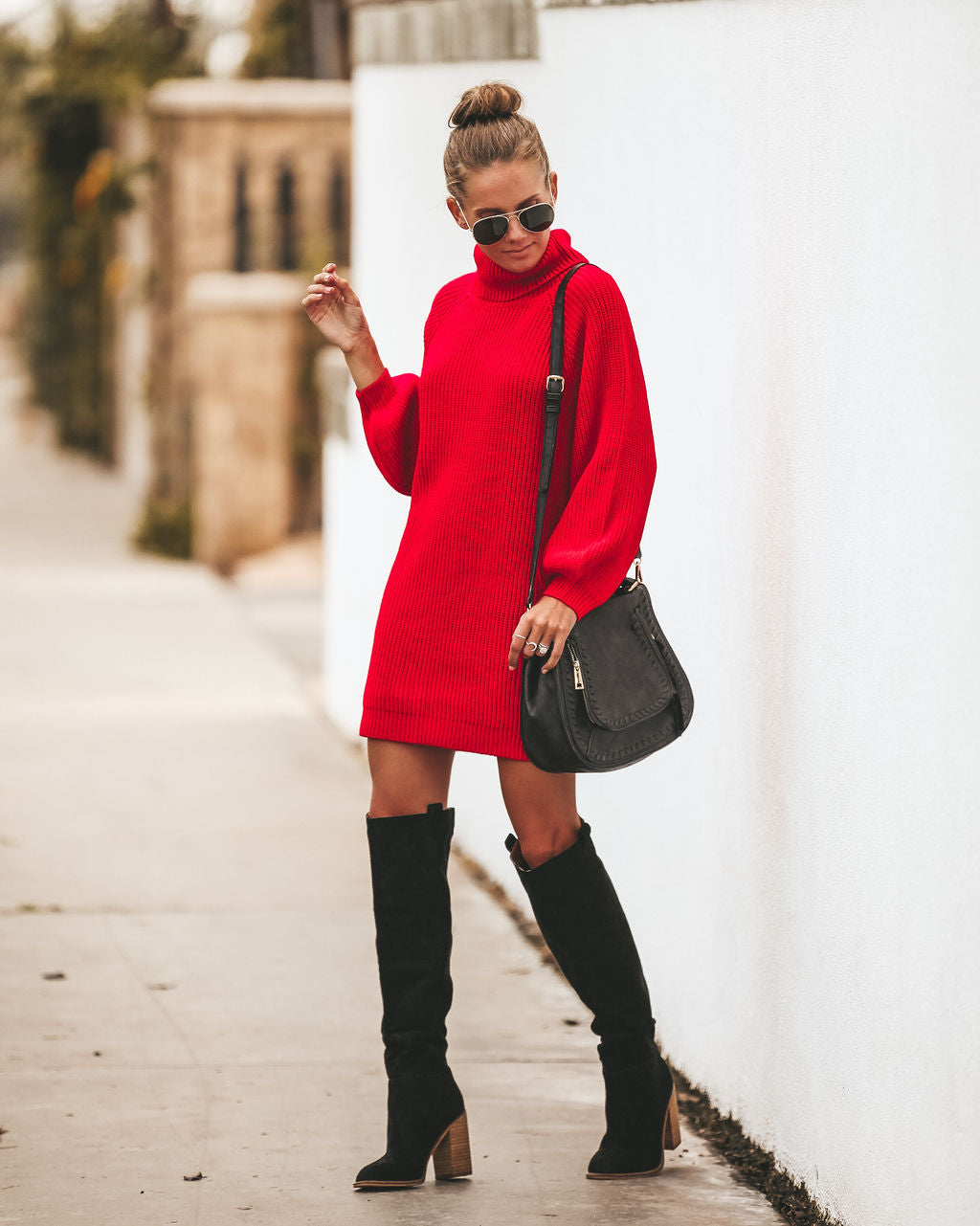 Red Sweater Dresses
