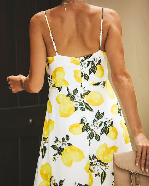 Lemon Tree High Low Maxi Dress
