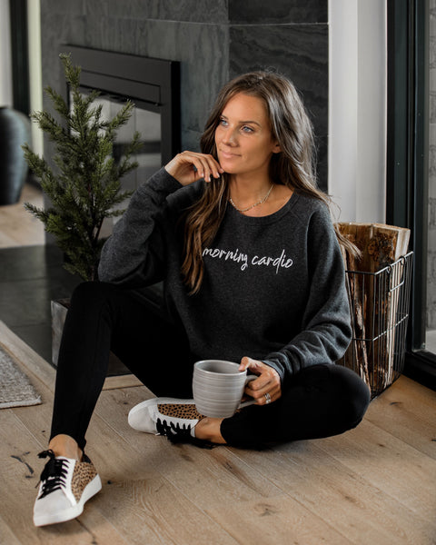 Morning Cardio, Evening Carbs Reversible Sweatshirt