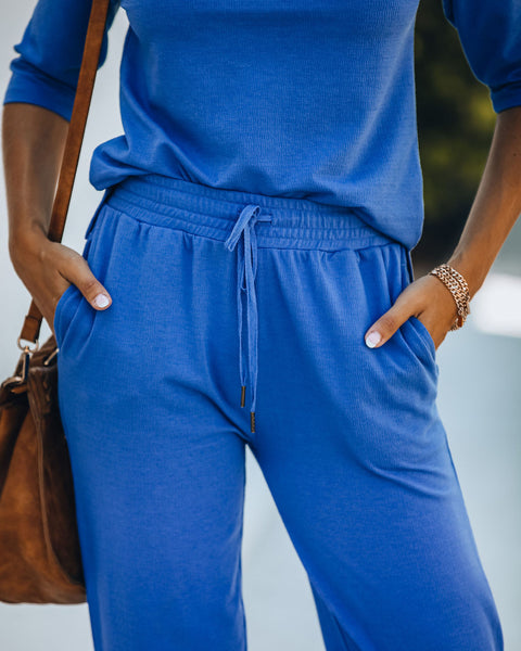 Georgie Cotton Blend Pocketed Joggers
