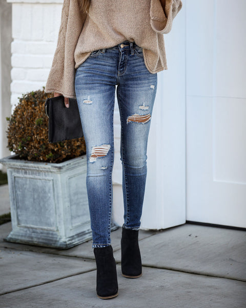 Priceless Mid Rise Distressed Skinny - FINAL SALE