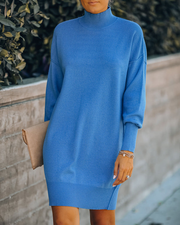 Jordy Turtleneck Knit Sweater Dress
