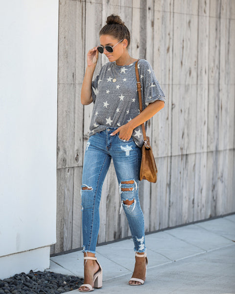 Merit Relaxed Star Print Tee