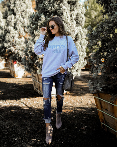 Cotton Blend Aprés Ski Sweatshirt - FINAL SALE