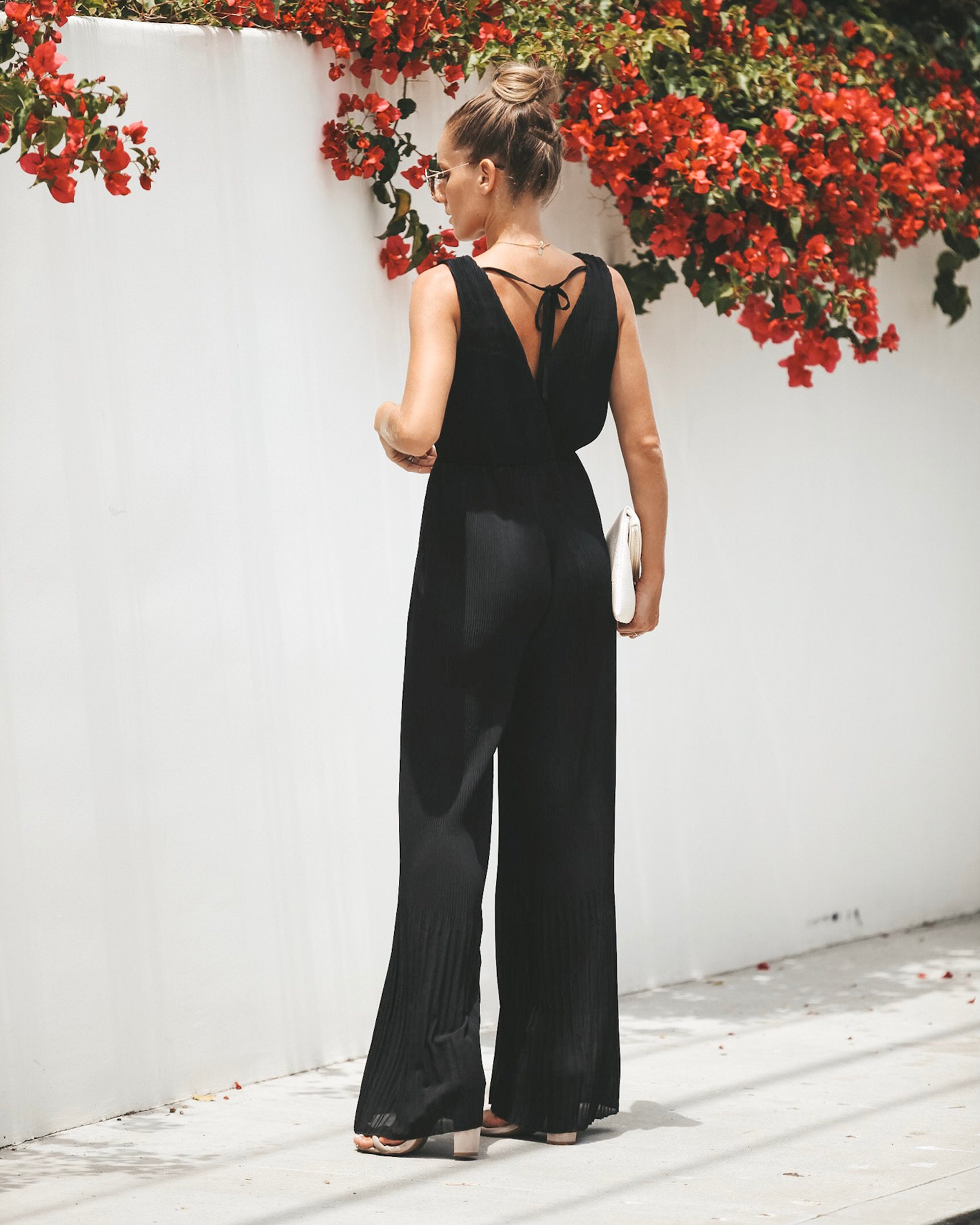 22c53aacc6f2 Fiorenza Pleated Jumpsuit - Black – VICI