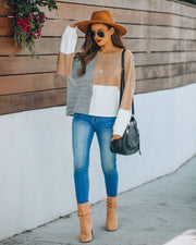 Wanna Be Yours Colorblock Knit Sweater
