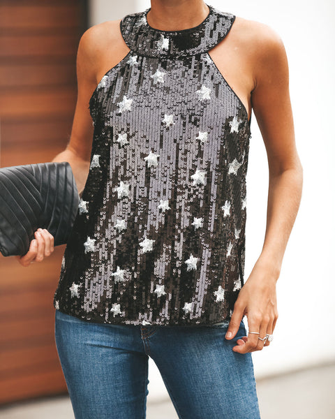 Among The Stars Sequin Tank