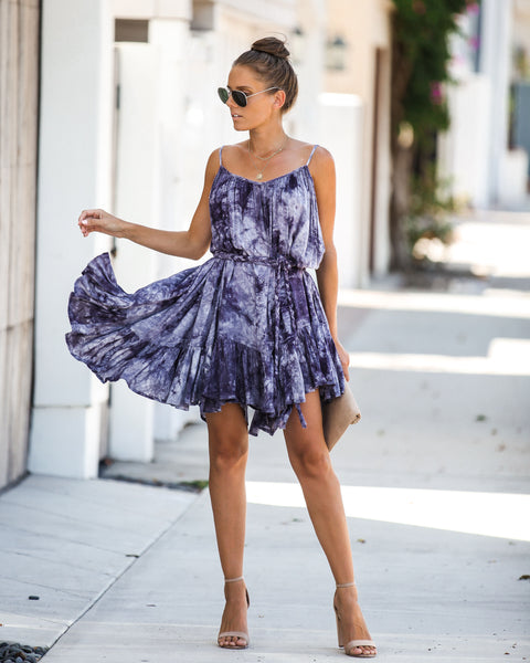 Leigh Cotton Tie Dye Rope Tie Dress