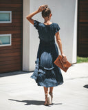 Pretty Pleats Tiered Dress - Dark Navy - FINAL SALE