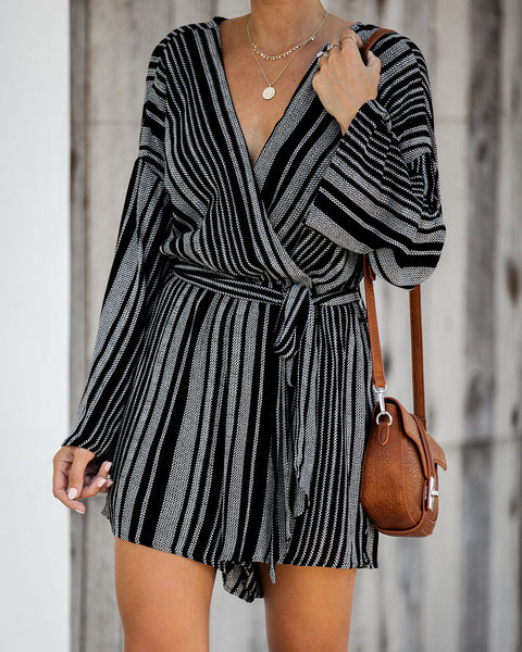 Emerson Striped Tie Romper