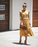 Pretty Pleats Tiered Dress - Marigold - FINAL SALE