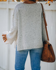 A Vibe Speckled Knit Pocket Sweater