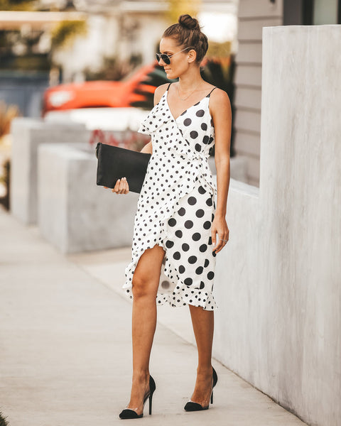 Hot Spot Polka Dot Wrap Dress - FINAL SALE  - FINAL SALE