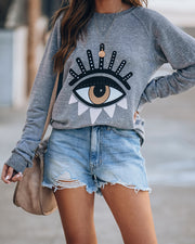 Evil Eye French Terry Pullover