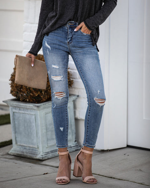 Parallel High Rise Distressed Skinny