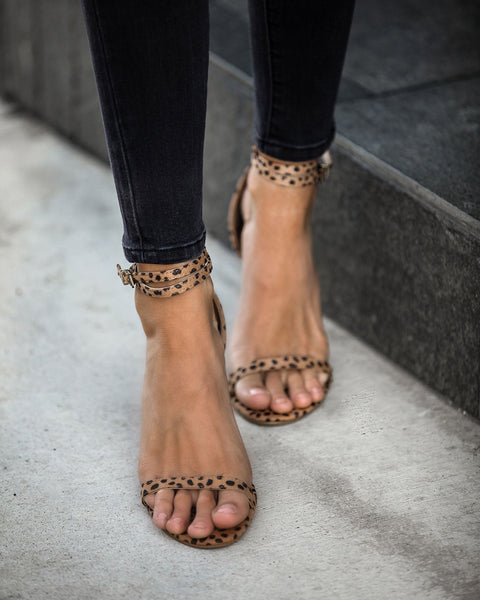 Bewitched Ankle Strap Wedge - Cheetah