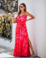 Can't Wait For Vacay Tie Front Maxi Dress - FINAL SALE