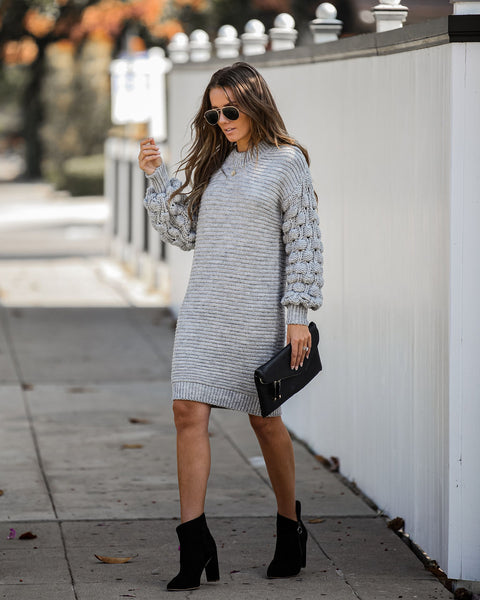 Life Is Gourd Chunky Knit Sweater Dress