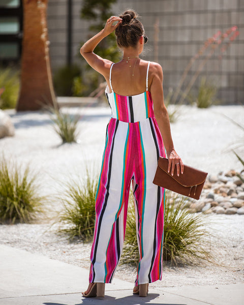 Saint Lucia Pocketed Button Down Jumpsuit - FINAL SALE