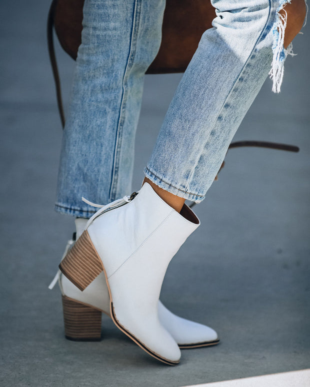 Ambrose Faux Leather Heeled Bootie