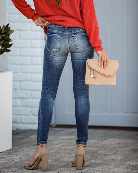 Rejoice Mid Rise Distressed Skinny - FINAL SALE