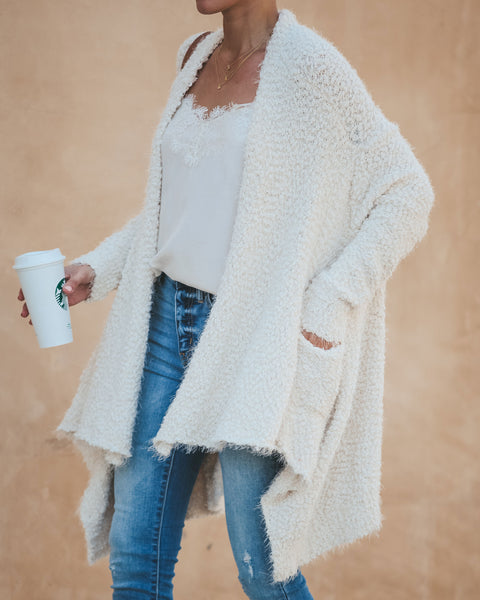 Blissfulness Knit Pocketed Cardigan - Cream