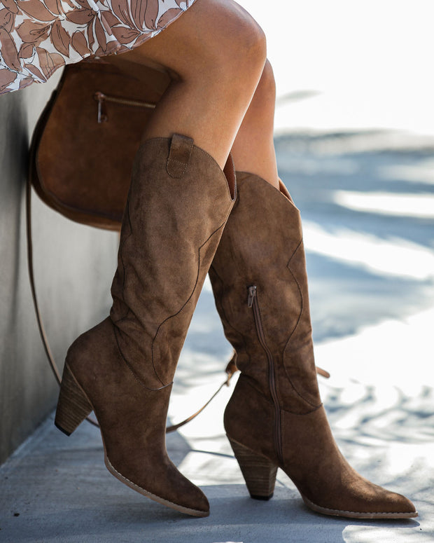Lasso Western Boot - Camel