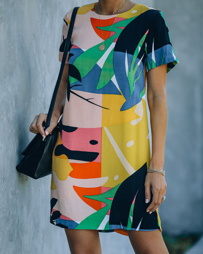 Warhol Printed Mini Shift Dress