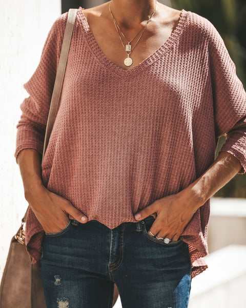 Between Us Thermal Knit Top - Sweet Bean
