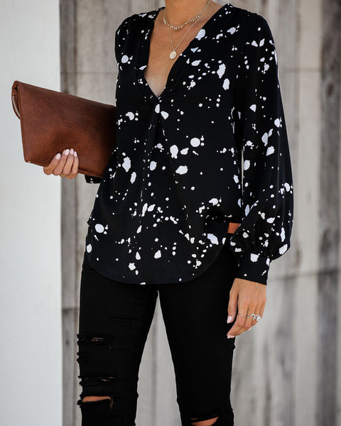 Sidesaddle Printed Blouse