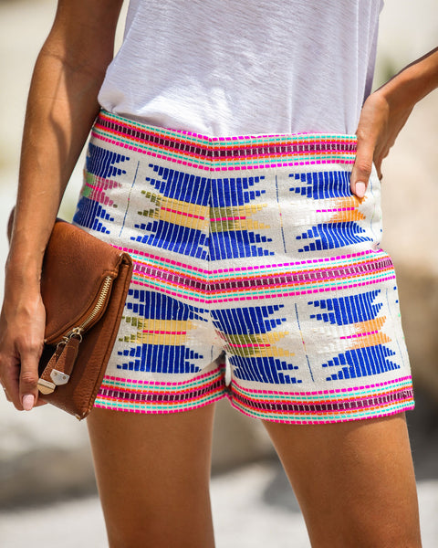 Something Special Embroidered Cotton Shorts