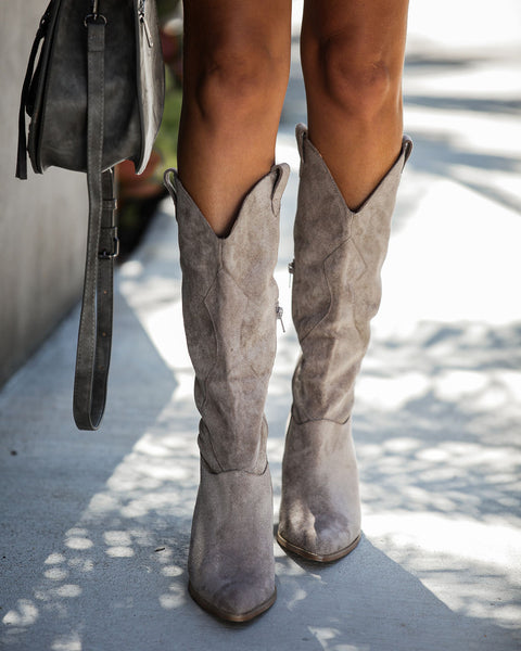 Lasso Western Boot - Taupe - FINAL SALE