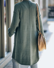 Connor Pocketed Knit Cardigan - Seafoam