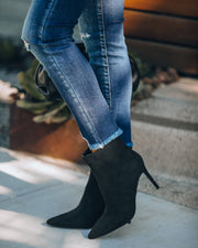 Britt Faux Suede Heeled Bootie - Black view 9