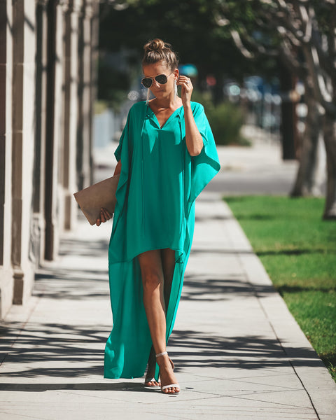 Alpha + Omega High Low Dress - Jade