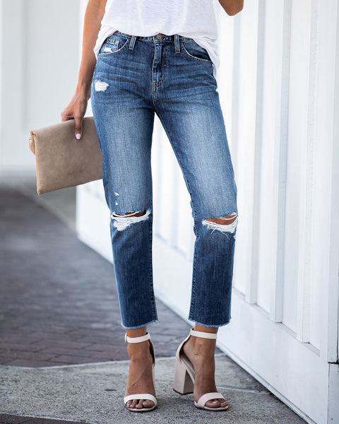 Dua High Rise Distressed Denim - FINAL SALE