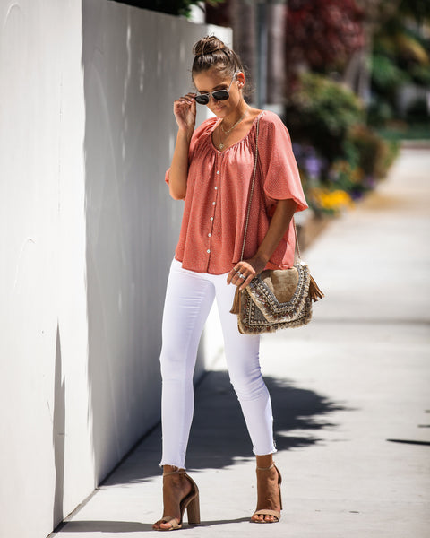 Best In Show Spotted Puff Sleeve Top - FINAL SALE