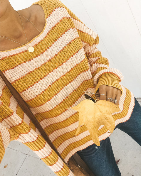 Just Dandy Striped Knit Sweater