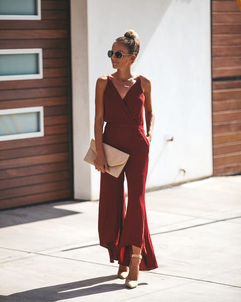 Bordeaux Pocketed Jumpsuit