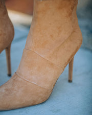 Britt Faux Suede Heeled Bootie - Camel view 5