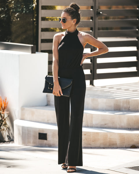 Midnight Glamour Pocketed Jumpsuit - FINAL SALE